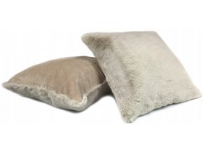 Plyšový povlak na polštář OSLO 40x40 cm Krémový