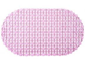 Protiskluzová Koupelnová Podložka OPEN 69x39 - Růžová