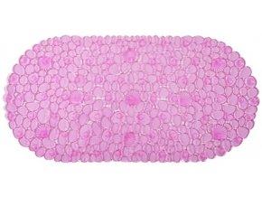 Protiskluzová Koupelnová Podložka ROCK 69x39 - Růžová