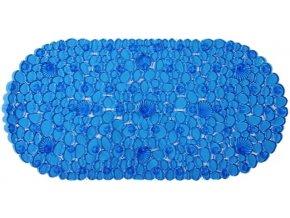 Protiskluzová Koupelnová Podložka ROCK 69x39 - Modrá