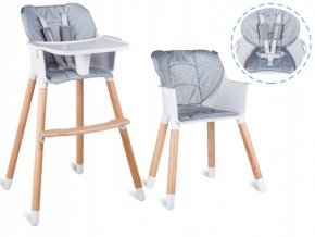 Jídelní židlička KEON 2v1 Šedá