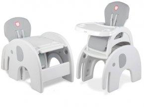 Jídelní židlička ELEPHANT 3v1 Šedá