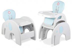 Jídelní židlička ELEPHANT 3v1 Modrá