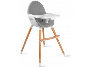 Jídelní židlička NIFI 2v1 Šedá