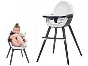 Jídelní židlička NIFI 2v1 Bílá