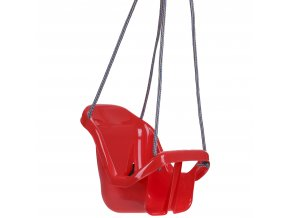 Houpačka pro batolata s opěradlem červená
