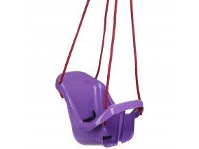 Houpačka pro batolata s opěradlem fialová