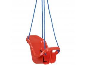 Houpačka pro batolata s opěradlem oranžová