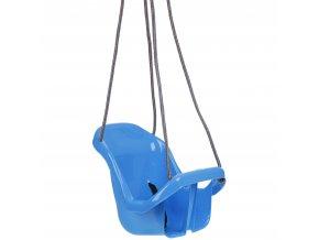 Houpačka pro batolata s opěradlem modrá
