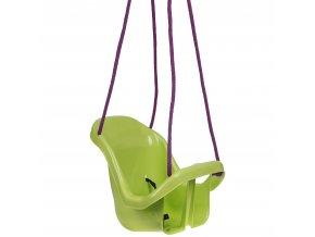 Houpačka pro batolata s opěradlem zelená