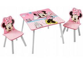 Dětský stůl s židlemi MINNIE MOUSE 01