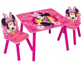 Dětský stůl s židlemi MINNIE MOUSE 02