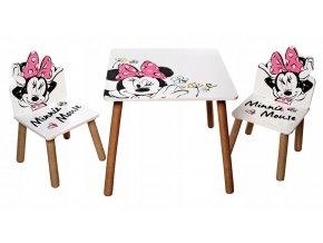 Dětský stůl s židlemi Minnie Mouse 04