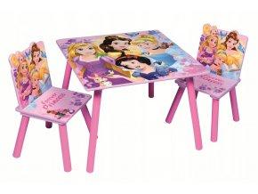 Dětský stůl s židlemi PRINCESS 01
