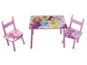 Dětský stůl s židlemi PRINCESS 02