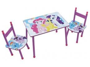 Dětský stůl s židlemi MY LITTLE PONY 01