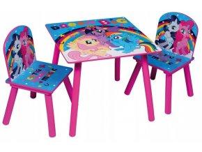 Dětský stůl s židlemi MY LITTLE PONY 02
