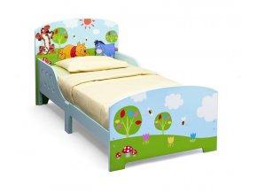 Dřevěná postel DisneyMedvídek Pů140x70 cm