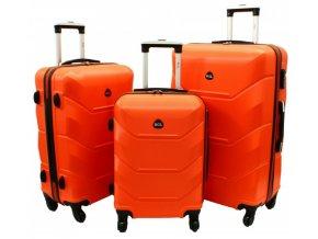 Cestovní Kufr CARBON - Oranžový 2