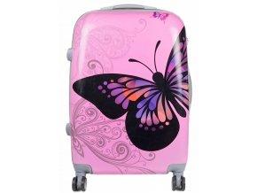 Cestovní Kufr BUTTERFLY - Růžový