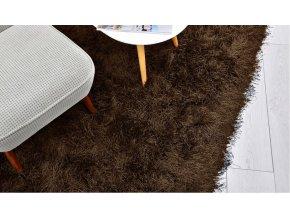 Shaggy koberec - Hnědý