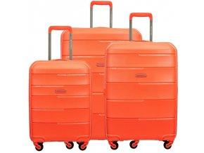 Cestovní Kufr BAHAMAS - Oranžový