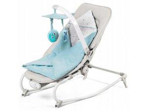 Lehátko – houpátko – židlička 3v1 pro děti od narození do 18 kgmodrá