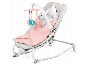 Lehátko – houpátko – židlička 3v1 pro děti od narození do 18 kg růžová