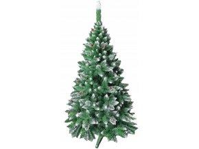 Umělá vánoční borovice s šiškami - diamant 160 cm