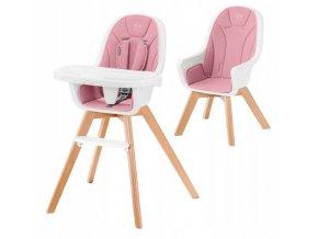 Jídelní židlička KINDERTIXI 2v1 Růžová0