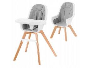 Jídelní židlička KINDERTIXI 2v1 Šedá