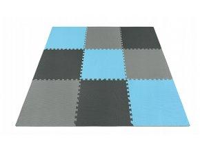 Pěnový koberec MAXI 9 ks 180x180x1 cm modrá