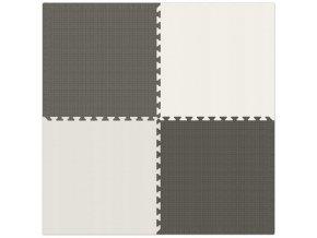 Pěnový koberec MAXI 4 ks 124x124x1 cm šedá