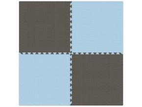 Pěnový koberec MAXI 4 ks 124x124x1 cm šedo-modrá