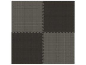 Pěnový koberec MAXI 4 ks 124x124x1 cm šedo-černá