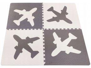 Pěnové puzzle MAXI 4 ks 124x124x1 cm letadlo
