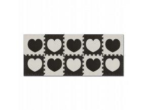 Pěnové puzzle 10 ks 150x60x1 cm srdíčko