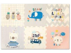 Pěnové puzzle PREMIUM 6 ks 170x114 pastelový ráj+zvířátka