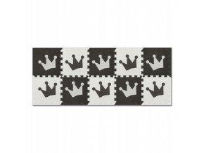 Pěnové puzzle 10 ks 150x60x1 cm korunka
