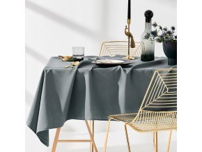 Ubrus na stůl AURA 110x160 tmavě šedý