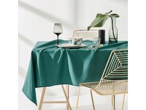 Ubrus na stůl AURA 110x160 tmavě zelený