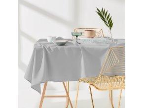 Ubrus na stůl AURA 110x160 světle šedý