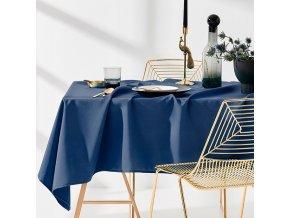 Ubrus na stůl AURA 110x160 tmavě modrý