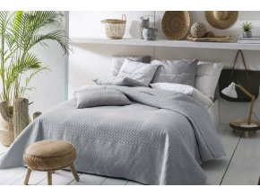 Oboustranný přehoz na postel BUENO 200x220 šedá