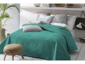Oboustranný přehoz na postel BUENO 170x210 tmavě zelená