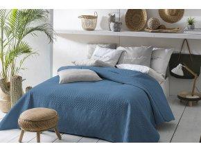 Oboustranný přehoz na postel BUENO 200x220 modrá