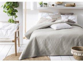 Oboustranný přehoz na postel BUENO 170x210 béžová