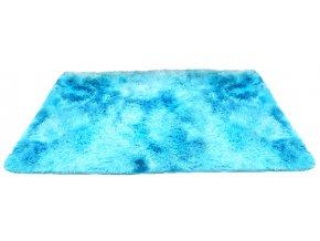 Plyšový koberec - Ombre Modrý