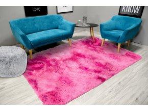 Plyšový koberec - Ombre Růžový