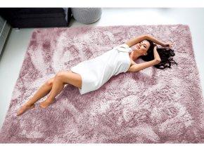 Plyšový koberec - Prášek Růžový